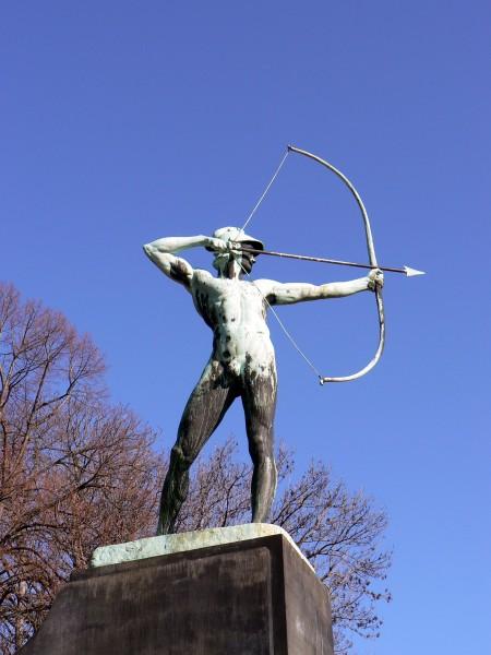 archer, om, königsufer, i, dresden - 1395409