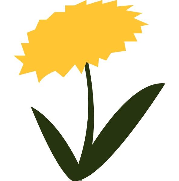 blomstrende gul blomst hos gronne blade