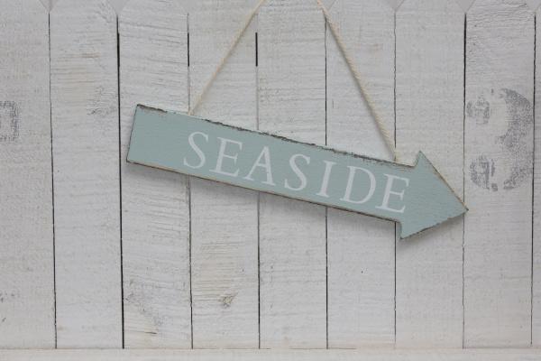 hængende, seaside, tegn, på, tværs, af - 28215398