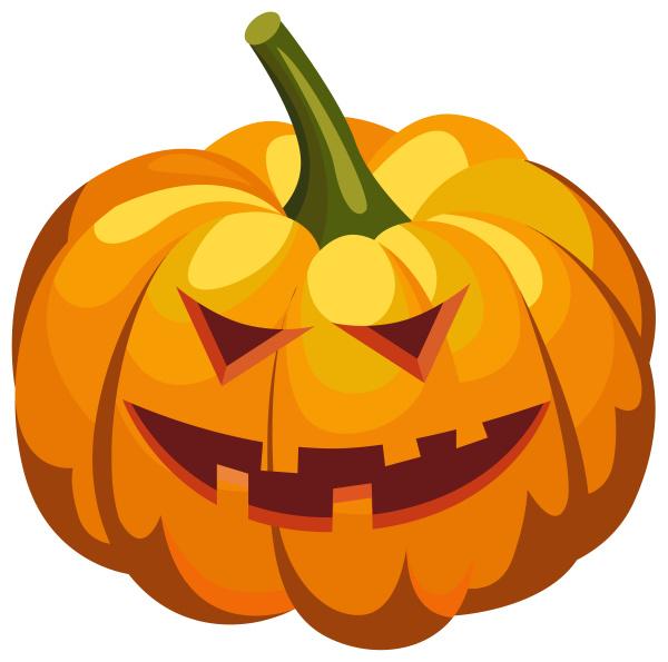 halloween, pumpkin, head, with, face, illustration - 28215335