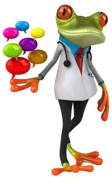 frog, doctor, , , 3d, illustration - 28217428