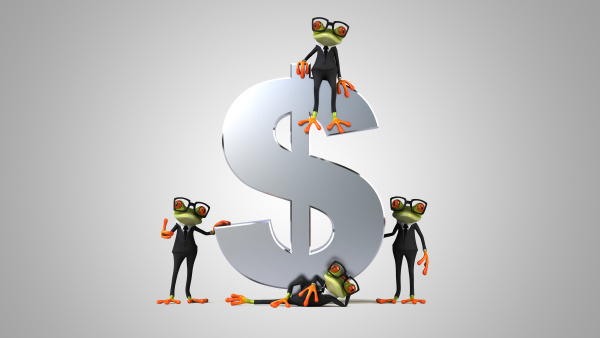 3d, illustration, of, green, frogs, next - 28218174