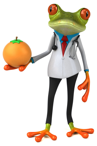 frog, doctor, , , 3d, illustration - 28218058
