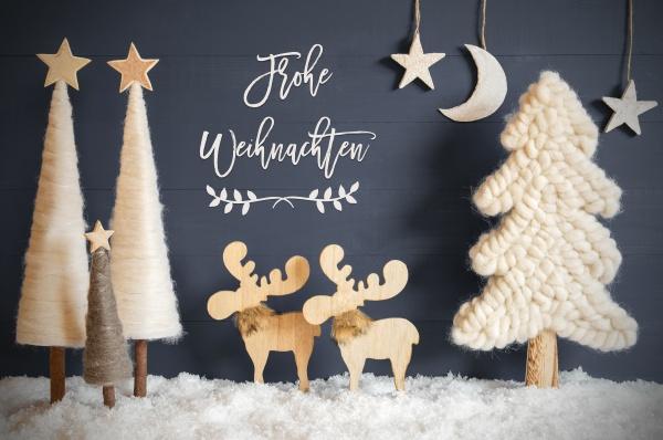 juletræ, elg, måne, stjerner, sne, frohe, weihachten, betyder, glædelig, jul - 28925927