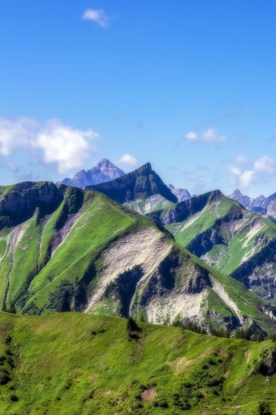 Ostrig tyrol naturskon udsigt over toppe