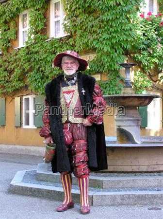 hat kostume cape pung moneybag middelalderen