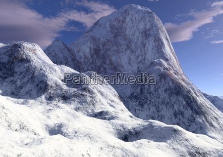 bjerge vinter tinde sten stenmasse stenlag