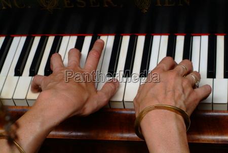 tocado el pianomusicateclado