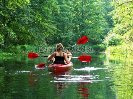 paddling i den gronne lunge