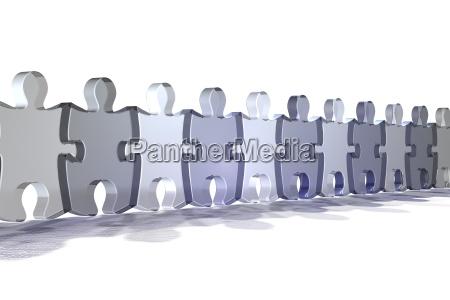 bla teamwork faellesskabets indsats lys detalje