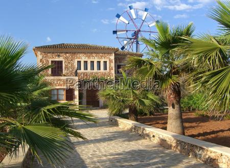 hus bygning have mallorca palmer gard