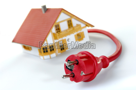 model house with safety plug