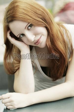 portrait of a pretty woman in