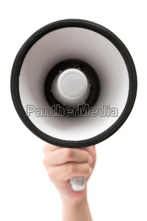 megafon i hand