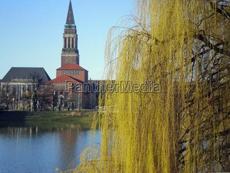 kiel city hall in spring