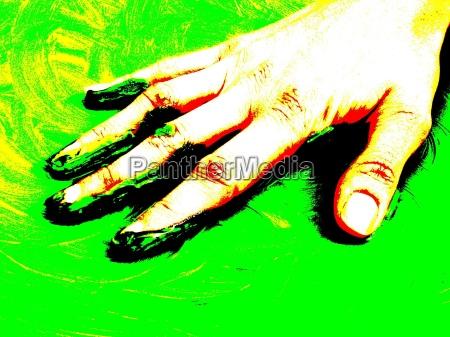 hand finger gron gront gronne frisk