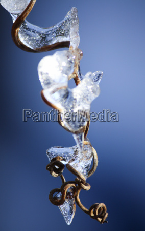 blue winter cold ice age icicle