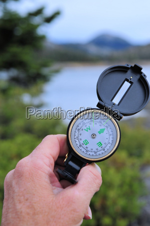 vandring kompas