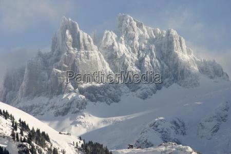 bjerge vinter alper schweiz svejts firs