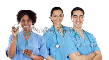 medicinsk team af tre laeger