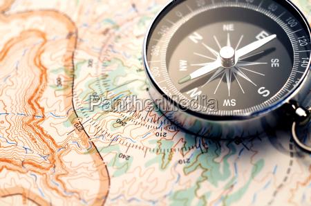 kompas pa kort