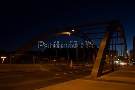bro natteoptagelse kol landskab natur
