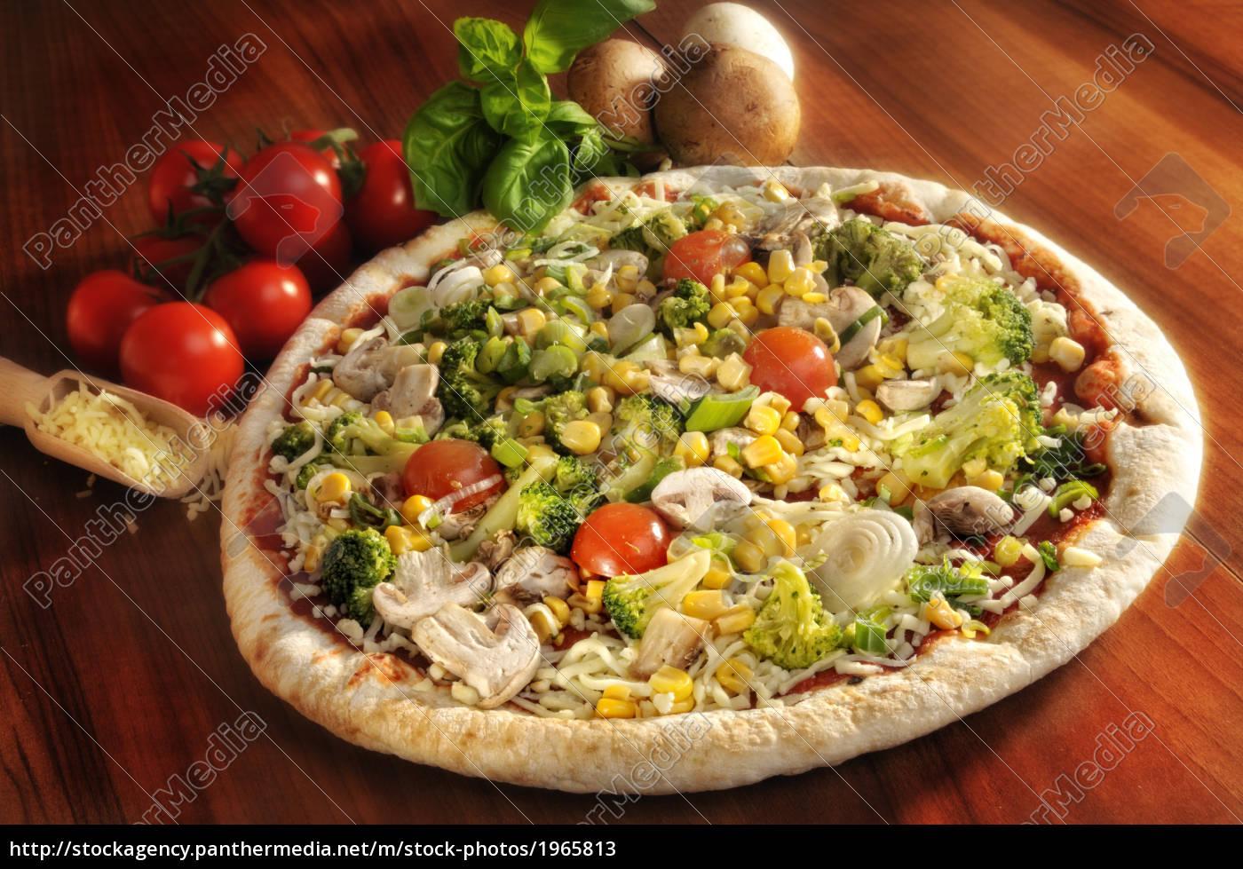 pizza, toppet, med, grøntsager - 1965813