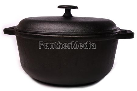 kokke madlavning potte krukke kande gryderet