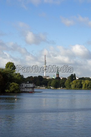 tv tower on the alster