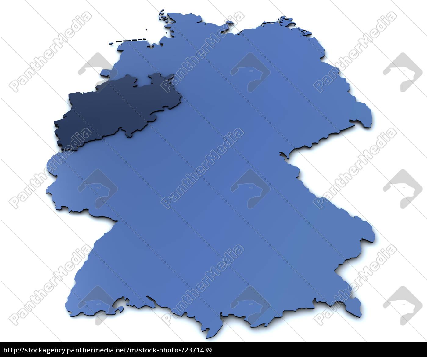 Online Kort Over Tyskland Nrw Royalty Free Image 2371439