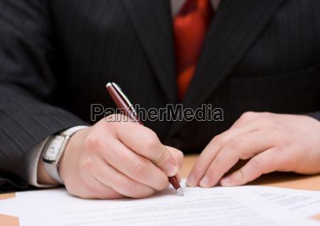 kontor kontrakt forretningsmand overenskomst forlig taler