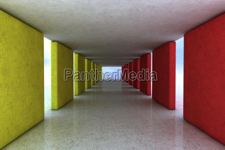beton arkitektur og farve design