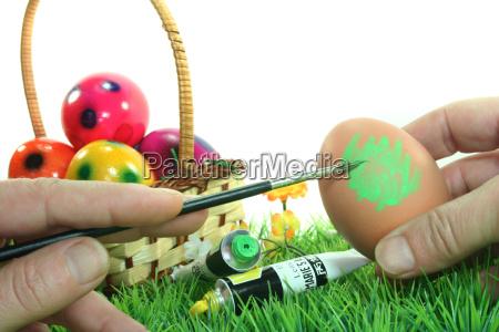 paint easter eggs