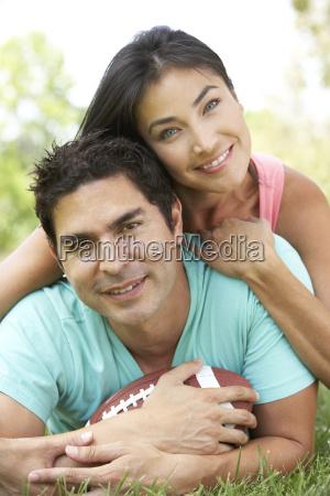 par i park med amerikansk fodbold