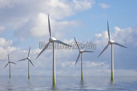 elproduktion vindmolle vindstyrke vindenergi saltvand havet
