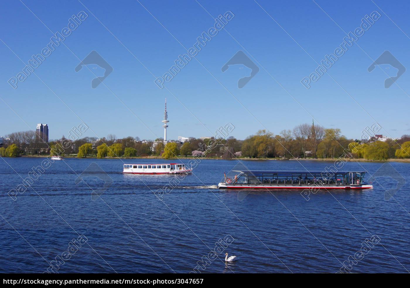 hamburg, kunstige sø, ferskvand, sø, vand, alster - 3047657