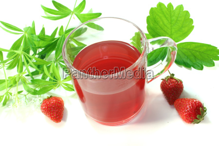 strawberry woodruff tea
