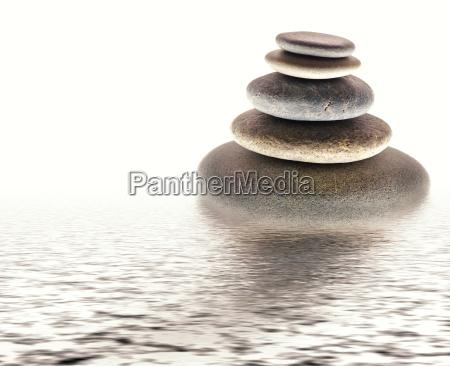 sten tarn i vandet