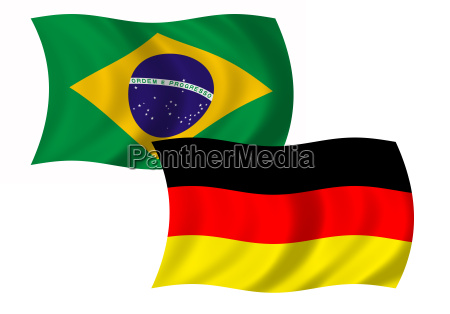 flag brasilien og tyskland wehend