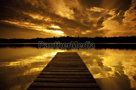 solnedgang ved soen