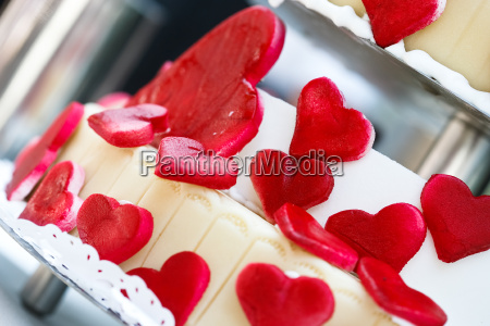 hjerter lagkage wedding cake rod