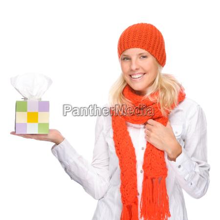 kvinde med en kold