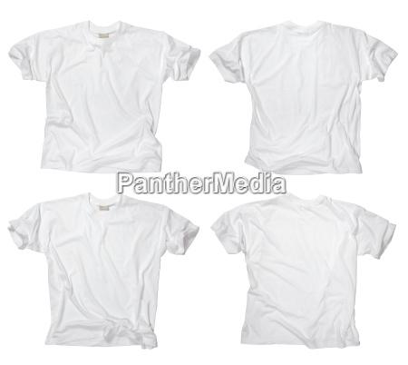 blank hvide t shirts foran og