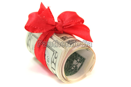 dollars with bow