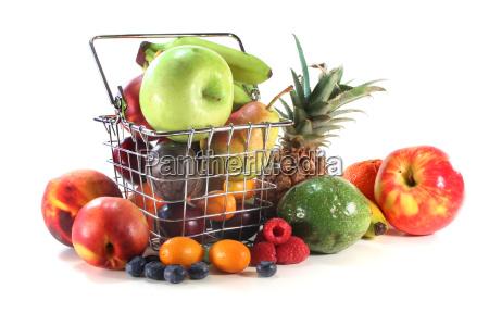 frugt miks i indkobskurven