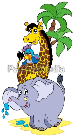 cartoon african animals