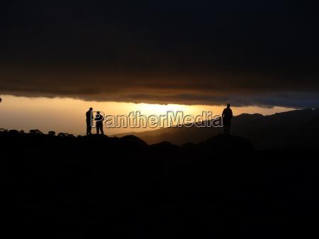 sunset hike go hiking ramble lines