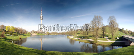 munich olympic park panorama