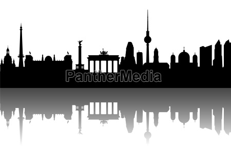 berlin skyline abstract