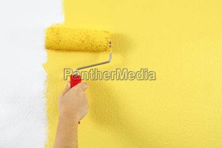 maling af en mur